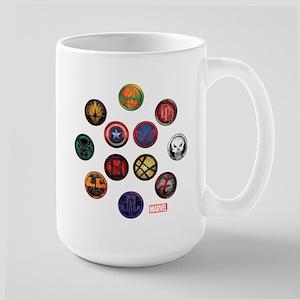 Marvel Grunge Icons Large Mug