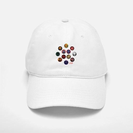 Marvel Grunge Icons Baseball Baseball Cap