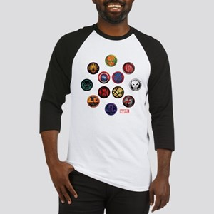 Marvel Grunge Icons Baseball Jersey
