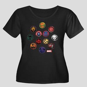 Marvel G Women's Plus Size Scoop Neck Dark T-Shirt