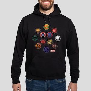 Marvel Grunge Icons Hoodie (dark)
