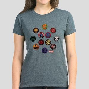 Marvel Grunge Icons Women's Dark T-Shirt