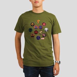 Marvel Grunge Icons Organic Men's T-Shirt (dark)