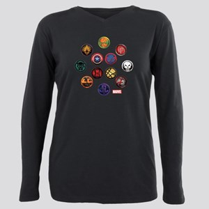 Marvel Grunge Icons Plus Size Long Sleeve Tee