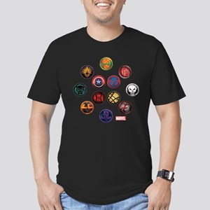 Marvel Grunge Icons Men's Fitted T-Shirt (dark)