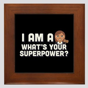 I Am A Judge What's Your Superpower Framed Tile