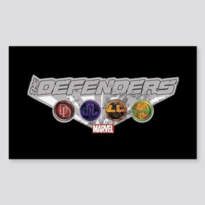 The Defenders Icons Sticker (Rectangle)