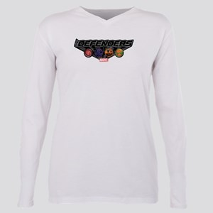 The Defenders Icons Plus Size Long Sleeve Tee