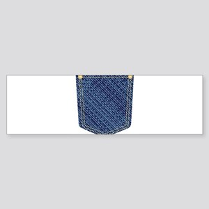 Plain Denim Pocket Bumper Sticker