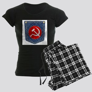 Russian Denim Pocket Women's Dark Pajamas