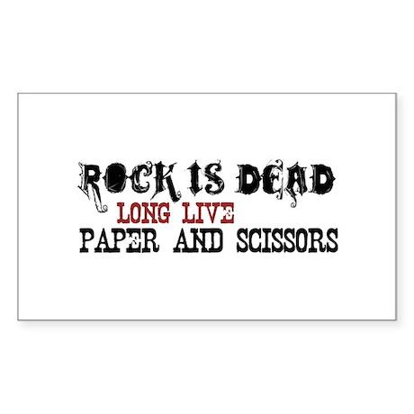 Rock is Dead Rectangle Sticker