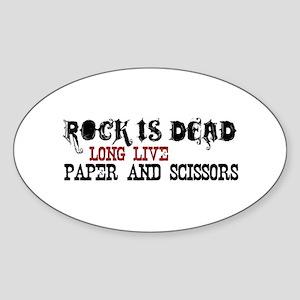 Rock is Dead Oval Sticker