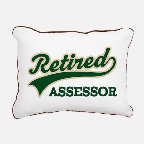 Retired Assessor Rectangular Canvas Pillow
