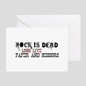 Rock is Dead Greeting Card