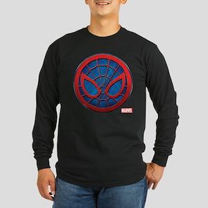 Spider-Man Grunge Icon Long Sleeve Dark T-Shirt