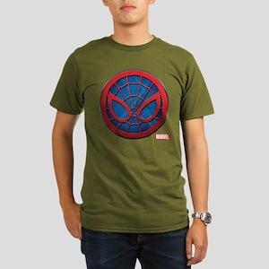Spider-Man Grunge Ico Organic Men's T-Shirt (dark)