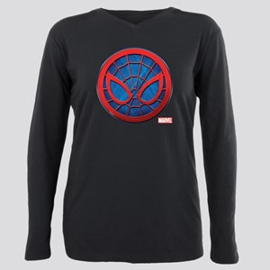 Spider-Man Grunge Icon Plus Size Long Sleeve Tee