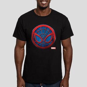 Spider-Man Grunge Icon Men's Fitted T-Shirt (dark)