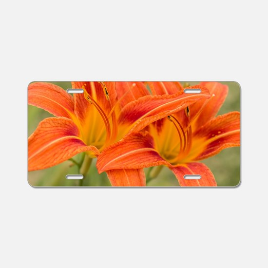 Cute Lily Aluminum License Plate