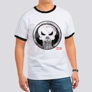 Punisher Grunge Icon Ringer T