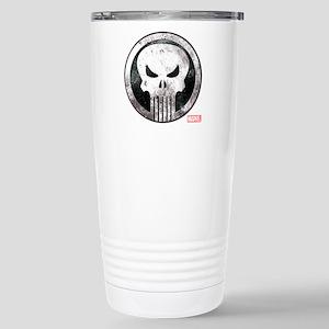 Punisher Grunge Icon Stainless Steel Travel Mug