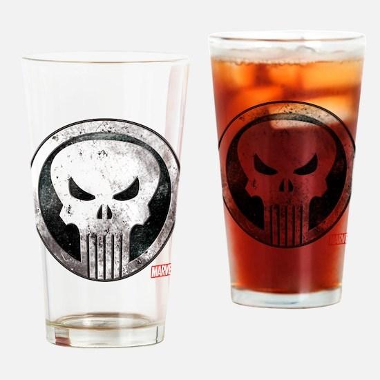 Punisher Grunge Icon Drinking Glass