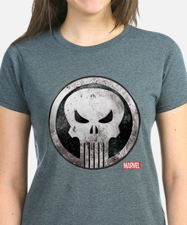 Punisher Grunge Icon Women's Dark T-Shirt