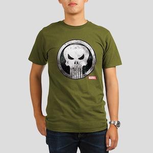 Punisher Grunge Icon Organic Men's T-Shirt (dark)