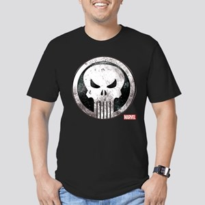 Punisher Grunge Icon Men's Fitted T-Shirt (dark)