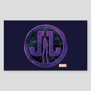 Jessica Jones Grunge Icon Sticker (Rectangle)