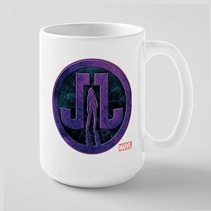 Jessica Jones Grunge Icon Large Mug