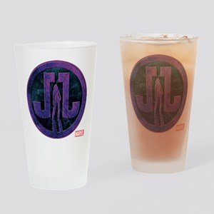 Jessica Jones Grunge Icon Drinking Glass