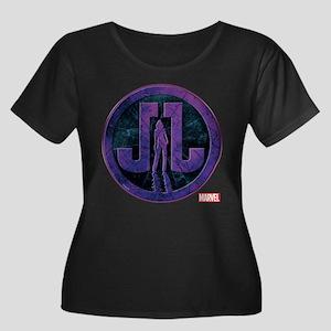 Jessica Women's Plus Size Scoop Neck Dark T-Shirt
