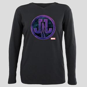 Jessica Jones Grunge Ico Plus Size Long Sleeve Tee