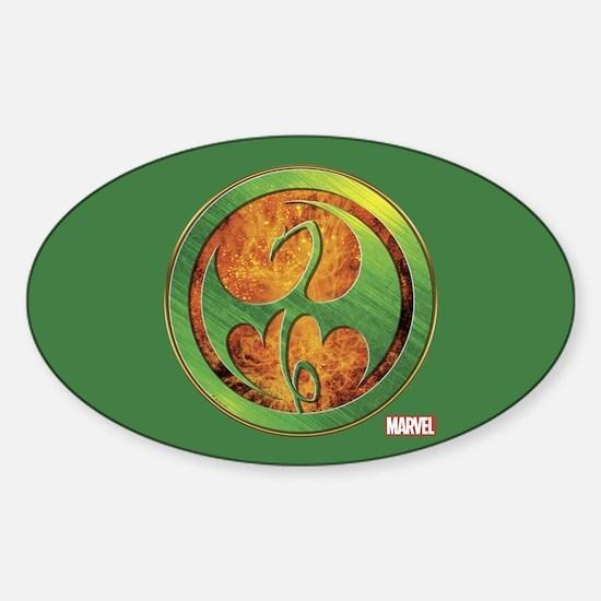 Iron Fist Grunge Icon Sticker (Oval)