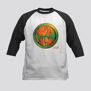 Iron Fist Grunge Icon Kids Baseball Jersey