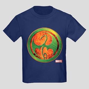 Iron Fist Grunge Icon Kids Dark T-Shirt