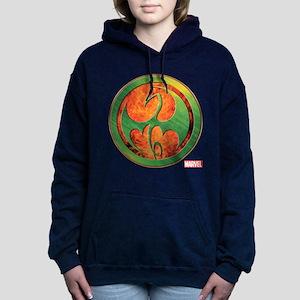 Iron Fist Grunge Icon Women's Hooded Sweatshirt