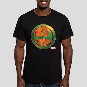 Iron Fist Grunge Icon Men's Fitted T-Shirt (dark)