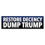 Restore Decency Dump Trump Bumper Sticker