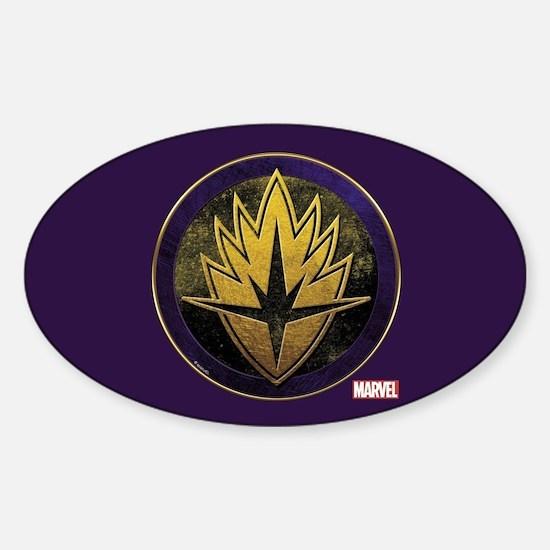 Guardians Grunge Icon Sticker (Oval)