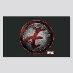 Elektra Grunge Icon Sticker (Rectangle)