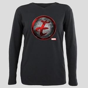 Elektra Grunge Icon Plus Size Long Sleeve Tee