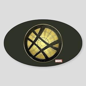 Doctor Strange Grunge Icon Sticker (Oval)