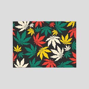 Marijuana Leaf 5'x7'Area Rug