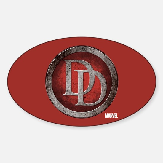Daredevil Grunge Icon Sticker (Oval)