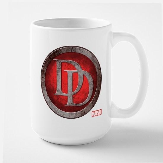 Daredevil Grunge Icon Large Mug