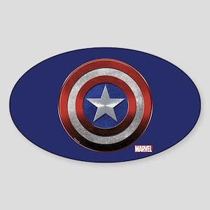 Captain America Grunge Sticker (Oval)