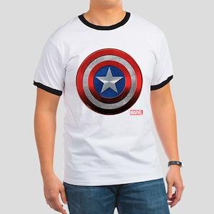Captain America Grunge Ringer T