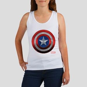 Captain America Grunge Women's Tank Top